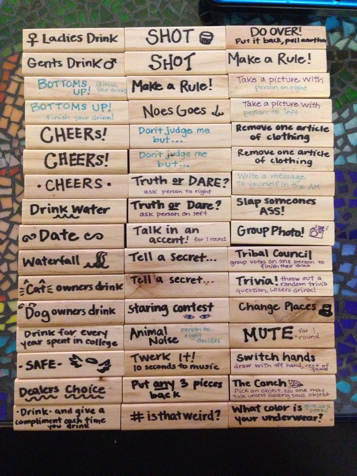 Jenga truth or dare game the classic game of stacking blocks without toppling the tower takes on a new twist in this